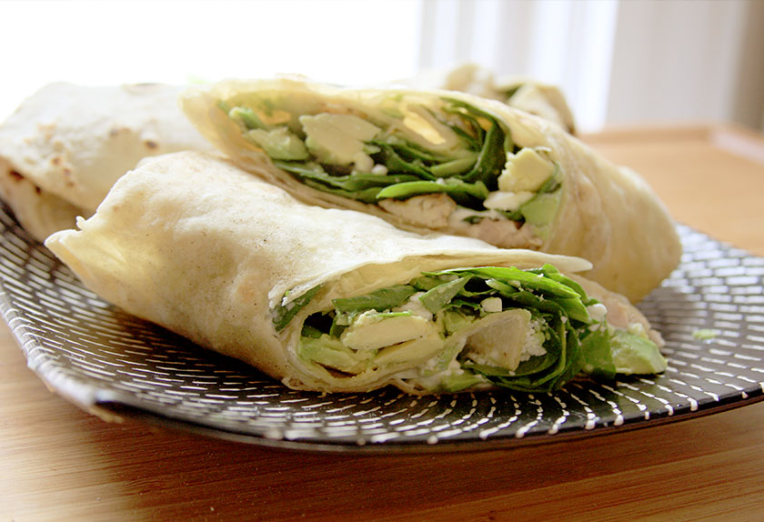 Homemade Chicken Tortilla Wrap Recipe